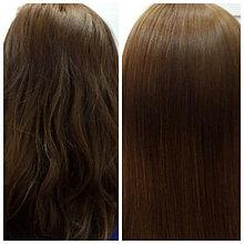 Кератиновое выпрямление волос. (До и после)