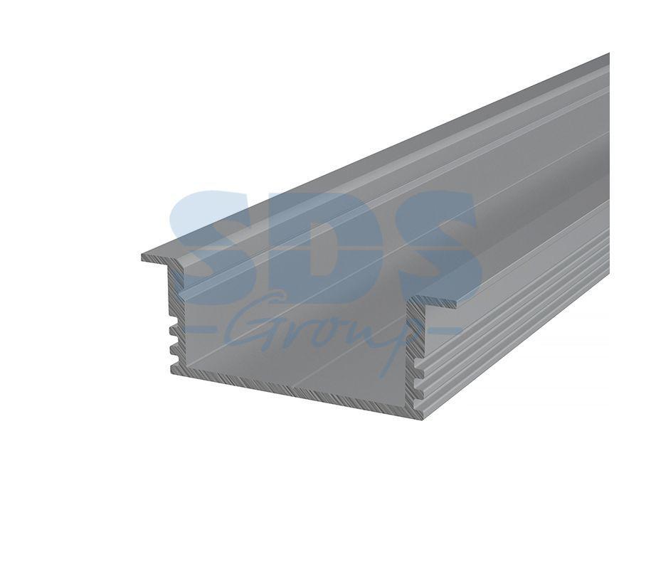 Профиль врезной алюминиевый 3412-2 REXANT, 2м - фото 1