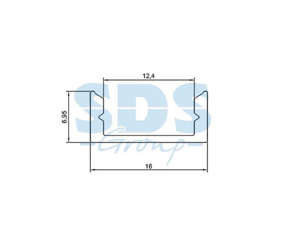 Профиль накладной алюминиевый 1607-2 REXANT, 2м - фото 2