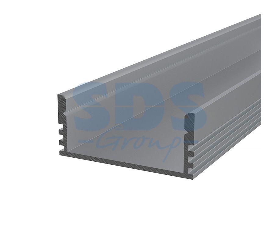 Профиль накладной алюминиевый 2812-2 REXANT, 2м - фото 1