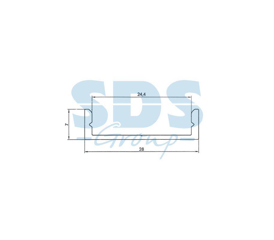 Профиль накладной алюминиевый 2807-2 REXANT, 2м - фото 2