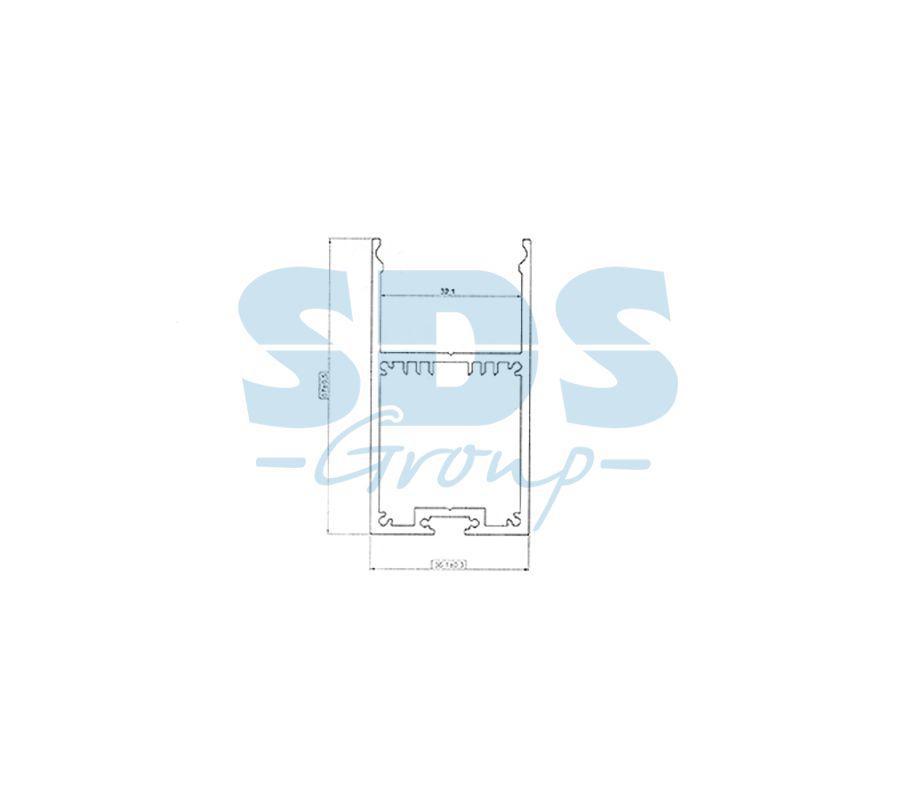 Профиль накладной алюминиевый 3567-2 REXANT, 2м - фото 2