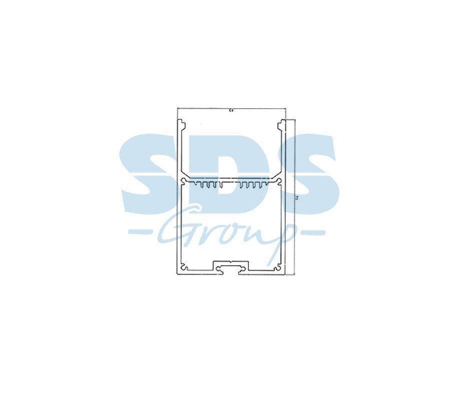 Профиль накладной алюминиевый 5070-2 REXANT, 2м - фото 2