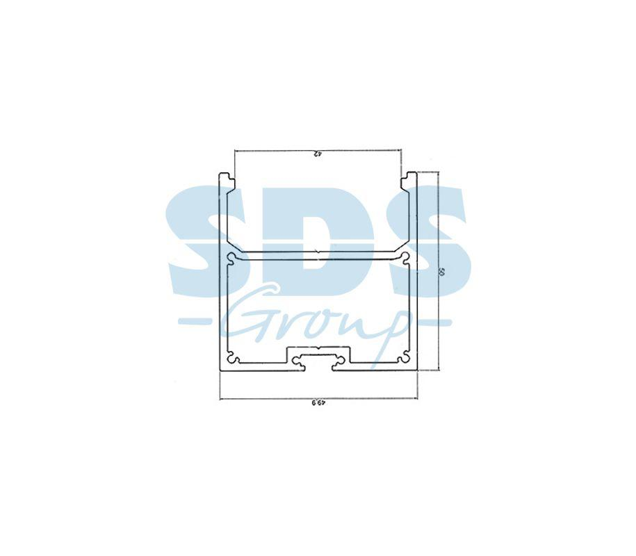 Профиль накладной алюминиевый 5050-2 REXANT, 2м - фото 2