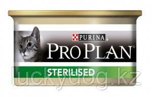 PRO PLAN Sterilised Лосось и тунец 85гр Консервы для кастрированных кошек After Care with Salmon