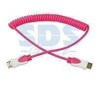 Шнур HDMI- HDMI 2М розовый витой REXANT