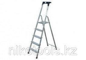 Алюминиевая стремянка Safety 5S, Н=1,05/3,05м (126337)