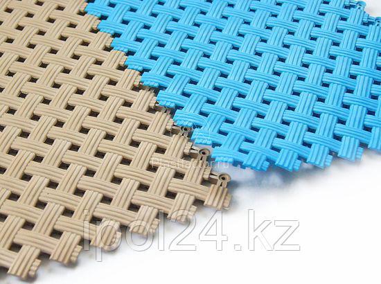 Модульный пол из полимеров AQUA  9х340 х 340 мм