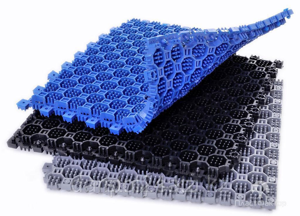Модульный пол из полимеров OPTIMA DUOS  9мм,16мм х250 х 250 мм