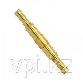 Штуцер двусторонний (трубка) бронза ф10