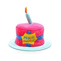 Шляпа на день рождения, торт, 1 свеча.