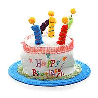 Шляпа на день рождения, торт, 5 свечей.