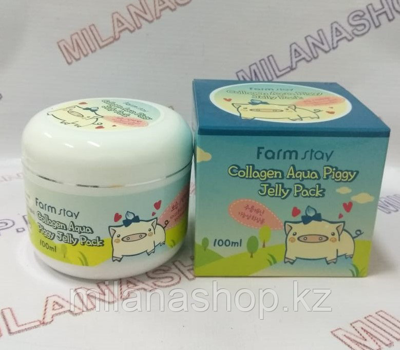 Farm Stay Collagen Aqua Piggy Jelly Pack - Ночная коллагеновая маска для лица