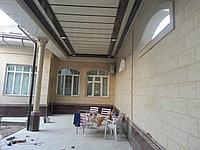 Фасадный материал - жидкий травертин в Астане