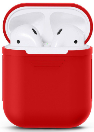 Силиконовый чехол для Apple AirPods (красный)