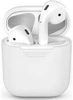 Силиконовый чехол для Apple AirPods (белый)