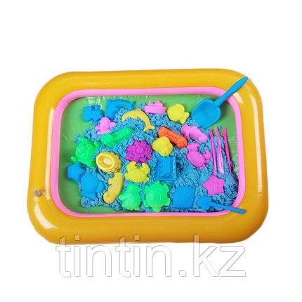 Кинетический песок 3 кг с песочницей бассейном, фото 2