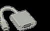 Мультимедийный конвертер USB3.1 Тype-C (M) на VGA (F), 15см, Silver