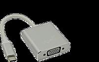 Мультимедийный конвертер USB3.1 Тype-C (M) на VGA (F), 15см, Silver, фото 1