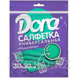 """Салфетки из микрофибры  DORA   """"Универсальная"""",30*30 см , 5шт в уп. 20шт/кор"""