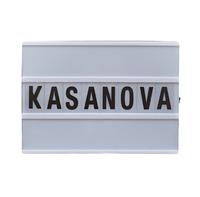 Декор. вывеска «KASANOVA» черная