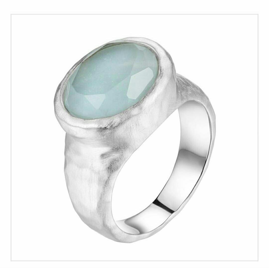 "Кольцо ""Elle"" с амазонитом / серебро"
