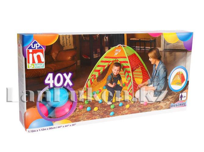 Детская игровая палатка с шариками автомат 112х112х90 Bestway 68080 - фото 4