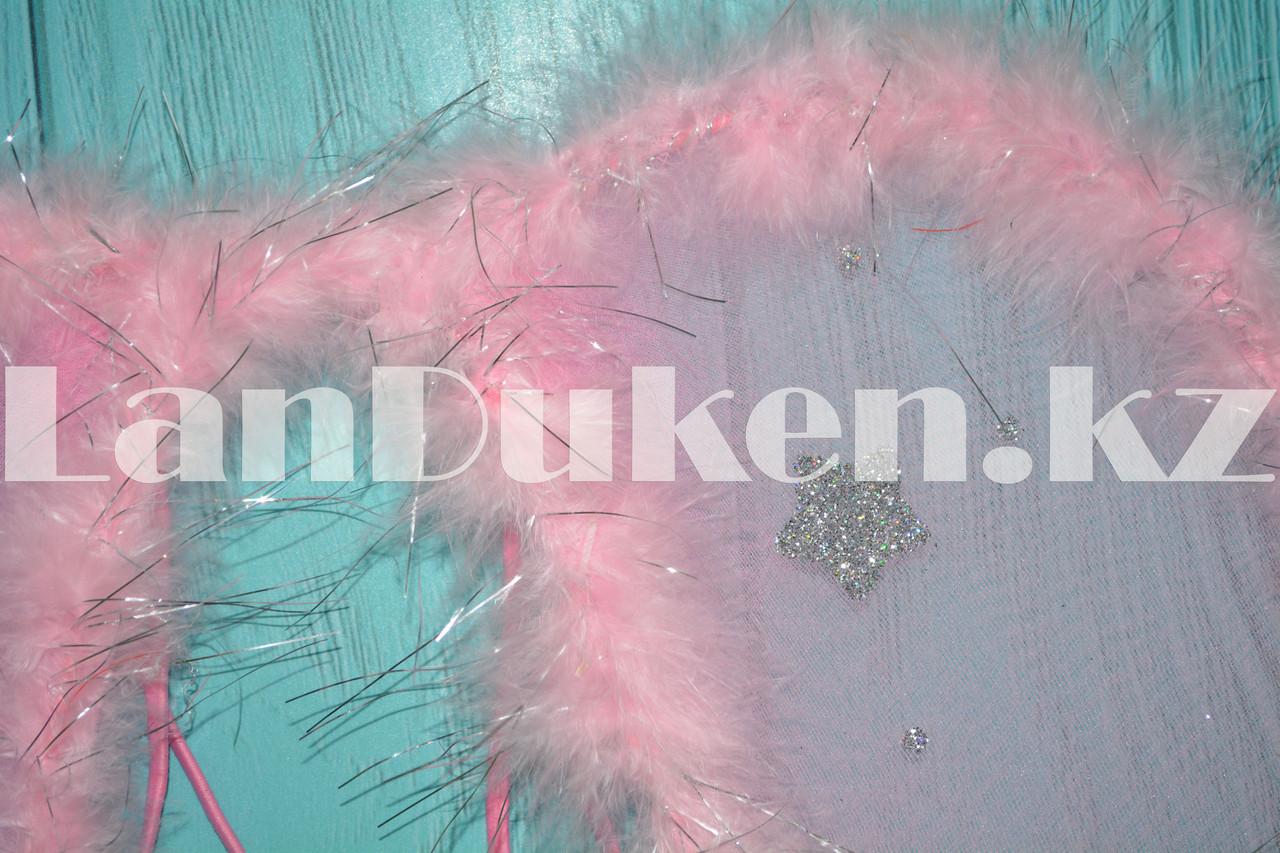 Набор Ангела крылья и волшебная палочка (розовый) - фото 2