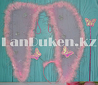 Набор Ангела крылья и волшебная палочка (розовый)