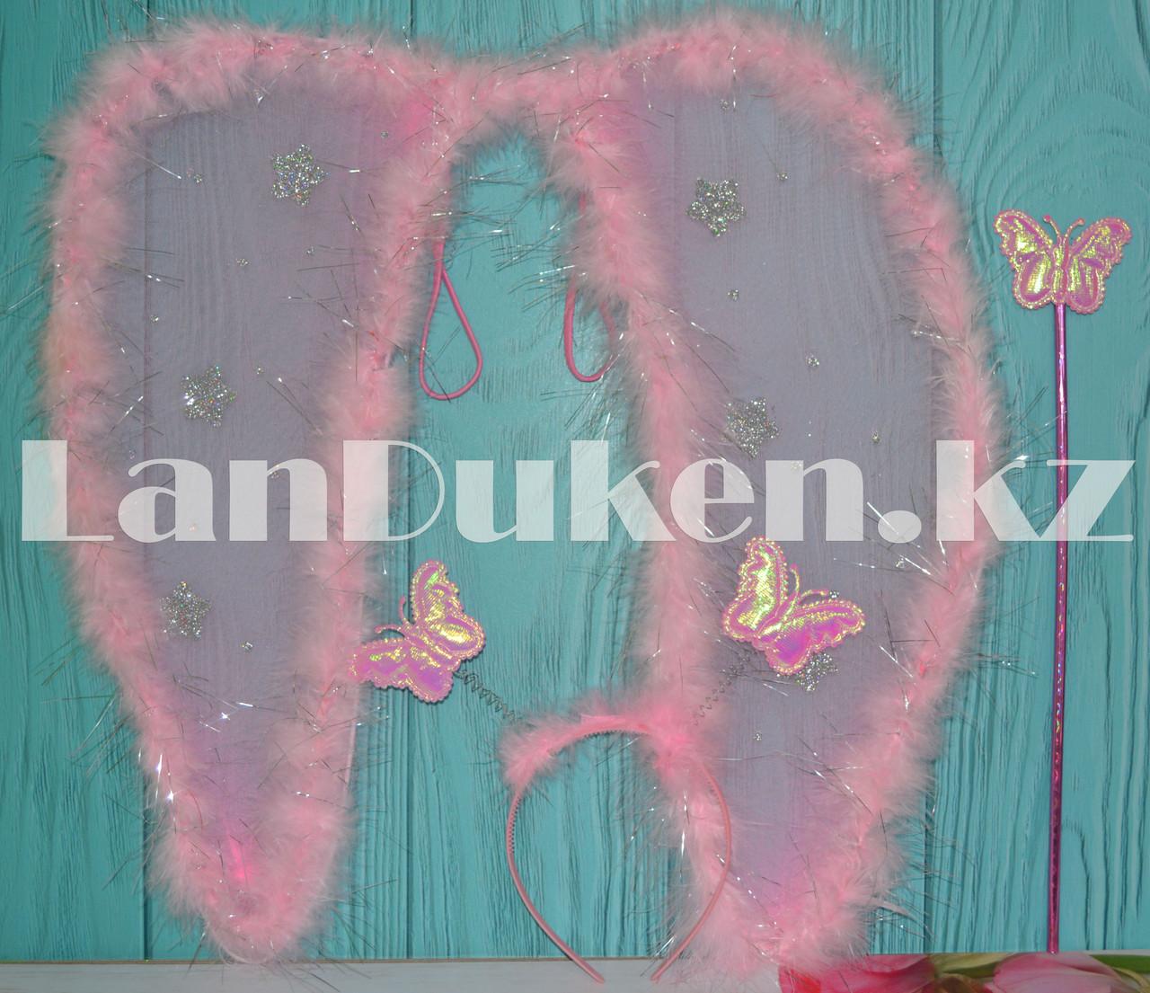 Набор Ангела крылья и волшебная палочка (розовый) - фото 1