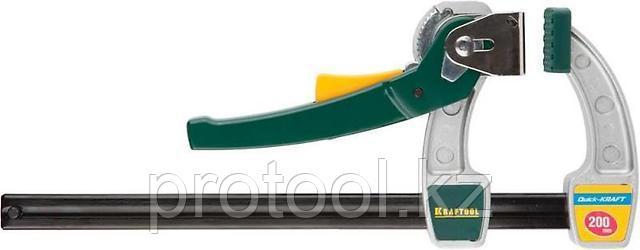 """Струбцина KRAFTOOL, рычажная, быстрозажимная, тип """"F"""", 75х200 мм, фото 2"""