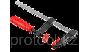 """Струбцина ЗУБР """"МАСТЕР"""", тип """"F"""", пластмассовая ручка, стальная закаленная рейка, 50х200мм, фото 3"""