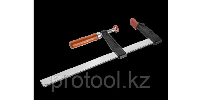 """Струбцина ЗУБР """"СТАНДАРТ"""", тип """"F"""", деревянная ручка, стальная закаленная рейка, 50х200мм, фото 2"""