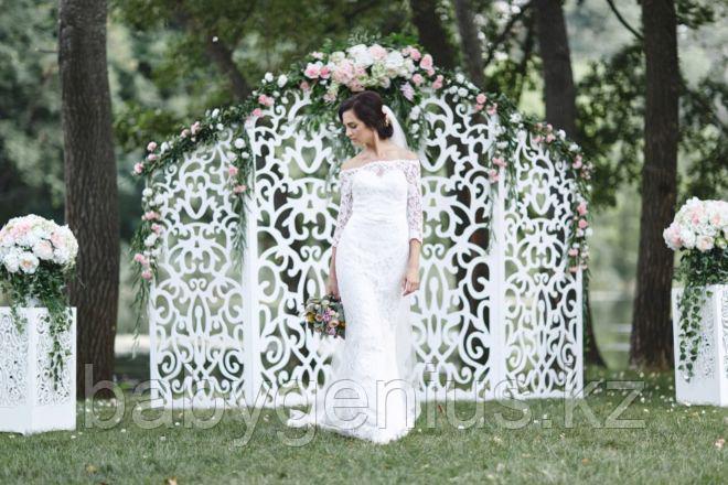 Свадебная ширма, свадебная арка, фотозона, ажурные тумбы