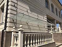 Козырьки из нержавеющей стали со стеклом