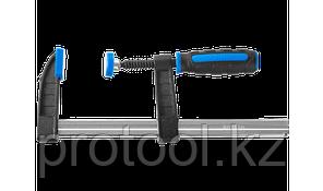 """Струбцина ЗУБР """"ПРОФЕССИОНАЛ"""", тип """"F"""", двухкомпонентная ручка, стальная закаленная рейка, 50х250мм, фото 2"""