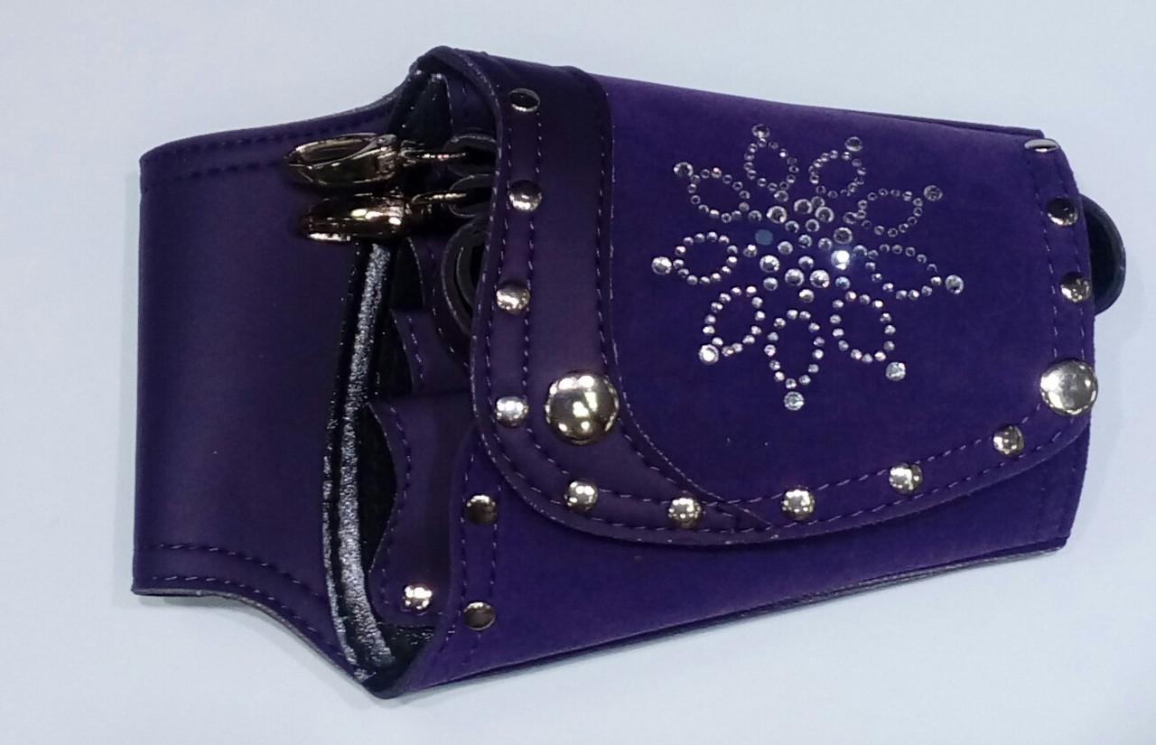 Кабура фиолетовая со стразами HD150-3B