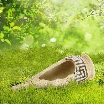 "Садовая фигура ""Каисса"" малая, амфора, шамот, фото 2"