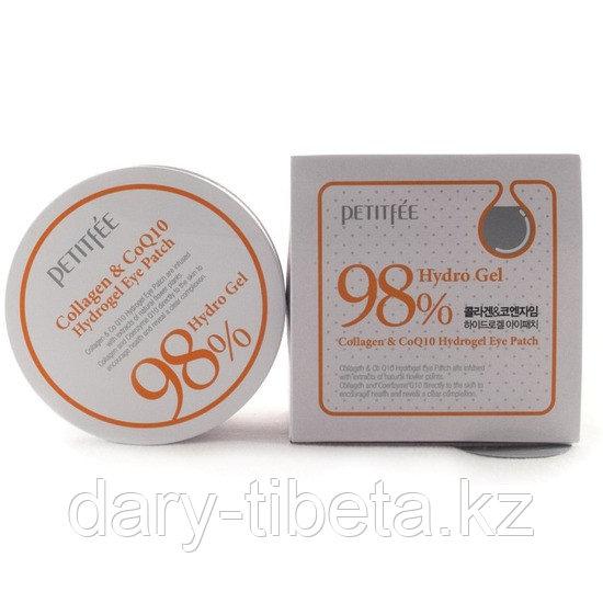 Petitfee 98% Hydro Gel Collagen &Co Q10 Eye Patch-Гидрогелевые патчи с коэнзимом Q10 и коллагеном