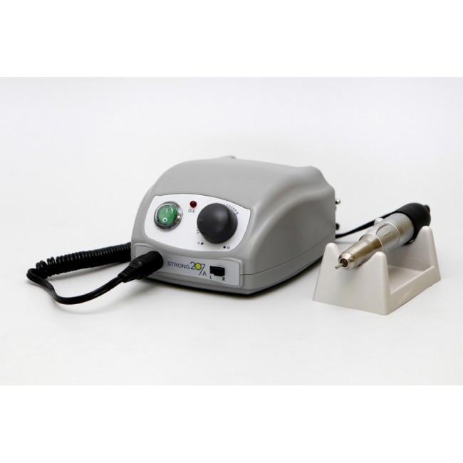 Strong 207A 120 - аппарат для маникюра без педали, с сумкой, 30000 об/мин | Saeshin (Ю. Корея)