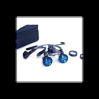 IZoom Flip-up Loupes - стоматологические бинокулярные лупы системы Flip-up, с переменным фокусным расстоянием 360-460 мм, на титановой оправе, 2.5х -