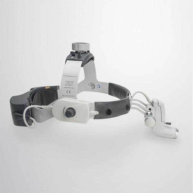 Heine ML4 LED UNPLUGGED - налобный светодиодный осветитель с аккумулятором на шлеме | Heine (Германия)