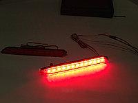Задние LED вставки в бампер на Camry V50 2011-14 Красные Type 1, фото 1
