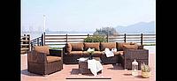 Комплект Classic, искусственный ротанг: диван, кресло, пуф