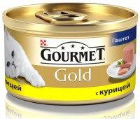 Gourmet Gold Паштет с курицей Влажный корм для кошек, 85г., фото 1