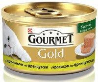 """Gourmet Gold Кусочки в паштете """"Террин""""  с кроликом по-французски Консервы для кошек, 85г., фото 1"""