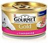 Gourmet Gold Паштет с говядиной Влажный корм для кошек, 85г.