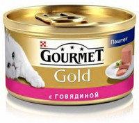 Gourmet Gold Паштет с говядиной Влажный корм для кошек, 85г., фото 1