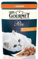 Gourmet Perle с Индейкой (пауч), Влажный корм для кошек МИНИ-ФИЛЕ В ПОДЛИВЕ,85г.