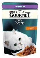 Gourmet Perle с Ягненком (пауч) Влажный корм для кошек МИНИ-ФИЛЕ В ПОДЛИВЕ,, 85г.